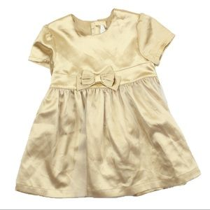 Girls Gold Party Dress, 12-18 M
